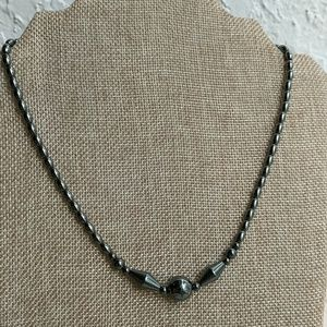 Jewelry - Hematite beaded necklace